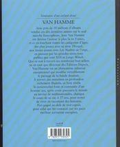 Van hamme t1 van hamme. itineraire d'un enfant doue - 4ème de couverture - Format classique