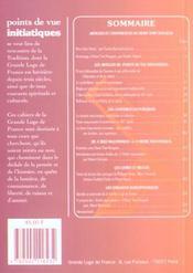 Points De Vue Initiatiques N.123 ; Articles Et Conférences De Henri Tort-Nouguès - 4ème de couverture - Format classique