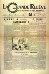 Grande Releve (La) N°33 du 01/07/1948 - Couverture - Format classique