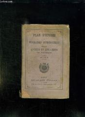 Plan D Etudes Et Programmes D Enseignement Dans Les Lycees Et Colleges De Garcons. - Couverture - Format classique