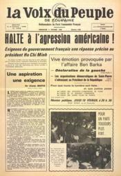 Voix Du Peuple De Touraine (La) N°1280 du 06/02/1966 - Couverture - Format classique