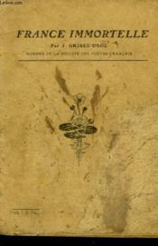France Immortelle - Couverture - Format classique