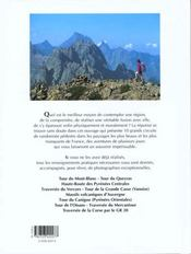 Sentiers de grande randonnée - 4ème de couverture - Format classique