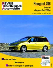 Rta 694.2 Peugeot 206 Diesel 1.4 Hdi 1.6 Hdi 04/2004 - Couverture - Format classique