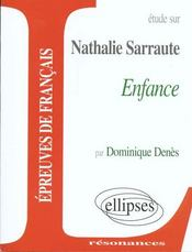 Etude Sur Enfance Nathalie Sarraute - Intérieur - Format classique