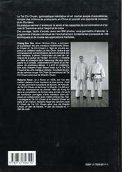 Cours Pratique De Tai Chi Chuan - 4ème de couverture - Format classique