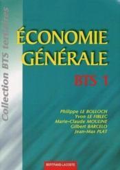 Economie Generale ; Bts - Couverture - Format classique