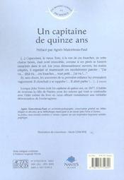 Un capitaine de quinze ans - 4ème de couverture - Format classique