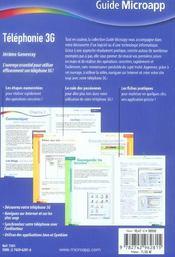 Telephonie 3g - 4ème de couverture - Format classique
