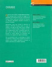 Chirurgie - 4ème de couverture - Format classique