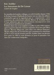 Intrusions Du Dr Czissar (Les) - 4ème de couverture - Format classique