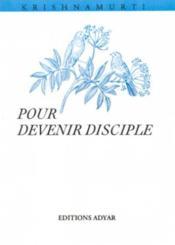 Pour devenir disciple - Couverture - Format classique