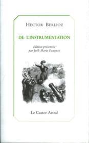 De l'instrumentation - Couverture - Format classique