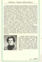 La litterature maghrebine de langue francaise - 4ème de couverture - Format classique