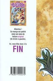 Yu-Gi-Oh t.5 - 4ème de couverture - Format classique