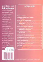 Points De Vue Initiatiques N.124 ; La Souverainete Des Grandes Loges - 4ème de couverture - Format classique