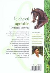 Le Cheval Agreable : Comment L'Obtenir ? - 4ème de couverture - Format classique