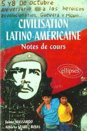 Civilisation Latino-Americaine Notes De Cours - Intérieur - Format classique
