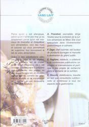 Cuisine Sans Lait (La) - 4ème de couverture - Format classique
