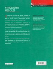 Neurosciences medicales - 4ème de couverture - Format classique