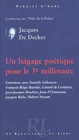 Un Bagage Poetique Pour Le 3e Millenaire - Intérieur - Format classique