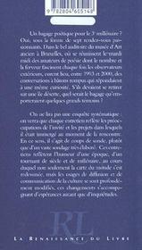 Un Bagage Poetique Pour Le 3e Millenaire - 4ème de couverture - Format classique