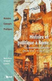 Histoire et politique a rome - Couverture - Format classique
