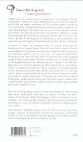 Correspondance - 4ème de couverture - Format classique