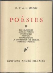 Poesies T 2 - Couverture - Format classique