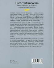 L'Art Contemporain - 4ème de couverture - Format classique