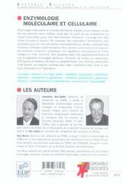 Enzymologie mole. et cell. t1 - 4ème de couverture - Format classique