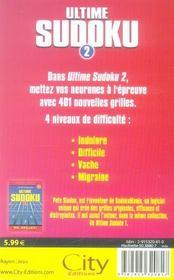 Ultime sudoku vol.2 - 4ème de couverture - Format classique