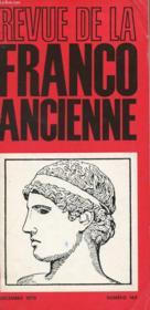 Revue De La Franco Ancienne N°169 - Couverture - Format classique