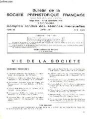 Bulletin De La Societe Prehistorique Francaise - Comptes Rendus Des Seances Mensuelles - Annee 1971 - Tome 68 - N°3 - Couverture - Format classique