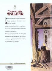 Chevalier Walder t.5 ; trois de coeur - 4ème de couverture - Format classique