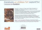Construire Un Chateau Fort Aujourd'Hui - 4ème de couverture - Format classique