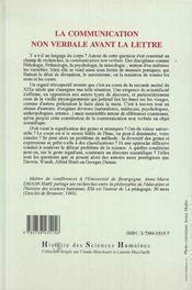 La Communication Non Verbale Avant La Lettre - 4ème de couverture - Format classique
