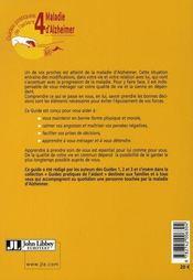 La maladie d'Alzheimer ; le guide pour l'aidant - 4ème de couverture - Format classique