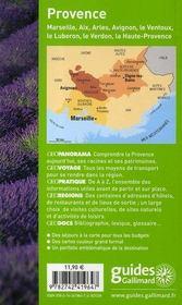 Geoguide ; Provence (Edition 2007-2008) - 4ème de couverture - Format classique