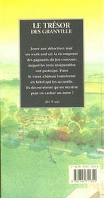 Le tresor des granville - 4ème de couverture - Format classique