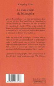 La Moustache Du Biographe - 4ème de couverture - Format classique