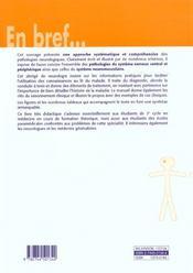 Neurologie - 4ème de couverture - Format classique