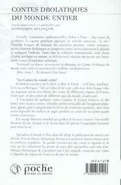 Contes drolatiques du monde entier - 4ème de couverture - Format classique