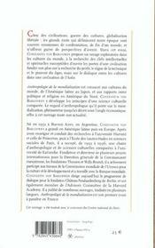 Anthropologie de la mondialisation - 4ème de couverture - Format classique