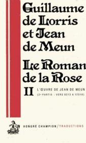 Le Roman De La Rose - Couverture - Format classique