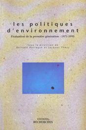 Les Politiques D'Environnement - Intérieur - Format classique