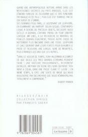 Le voleur de temps (1 ere ed) - 4ème de couverture - Format classique