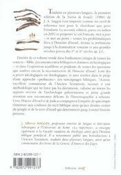 Histoire D Israel. Introduction A L Histoire D Israel Et De Juda Des Origines Jusqu A La Revolte De - 4ème de couverture - Format classique