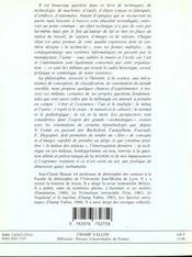 Philosophie Des Milieux Techniques - 4ème de couverture - Format classique