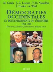Democraties Occidentales Et Bouleversements De L'Histoire T.2 ; Allemagne. Angleterre. Espagne. Etats-Unis. Italie - Intérieur - Format classique